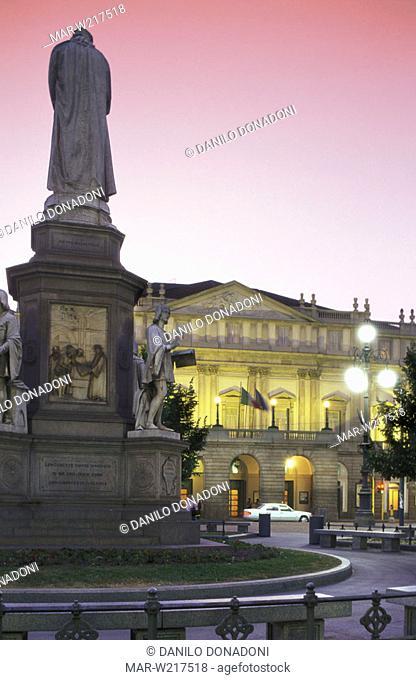 la scala theatre, milan, italy