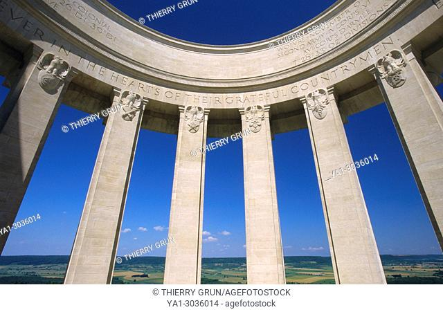 France, Meuse (55), Montsec hill, American World War I commemorative monument