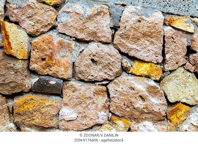Old gray stone wall background