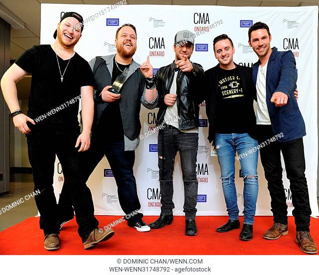 2017 CMA Ontario (Country Music Association Ontario) Awards - Press Room Featuring: Cherry Bomb Where: London, Ontario, Canada When: 11 Jun 2017 Credit: Dominic...