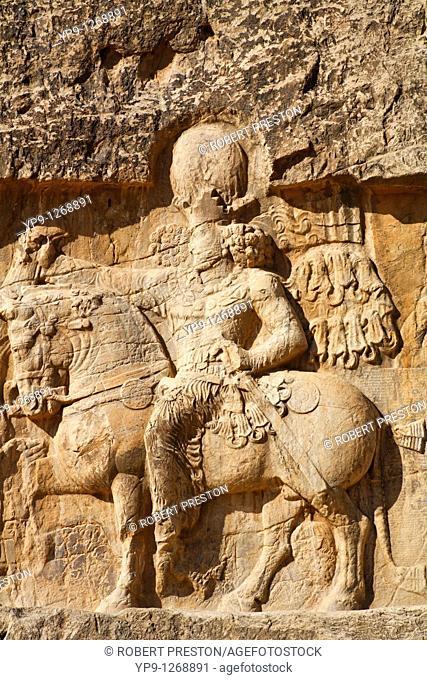 Sasanid rock reliefs carved at Naqsh-i Rustam, Iran