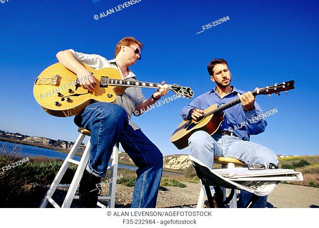 Outdoor guitar lesson