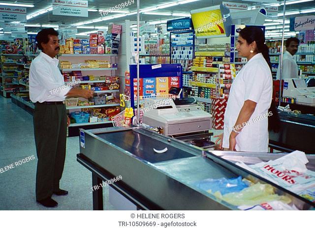 Jumeira Dubai UAE Spinneys Supermarket Checkout
