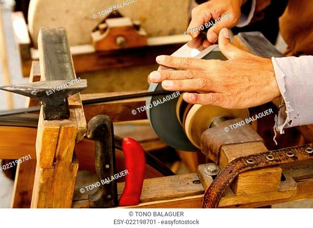 grinder traditional wheel hand tools sharpening knife