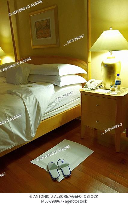 bedroom of a luxury hotel
