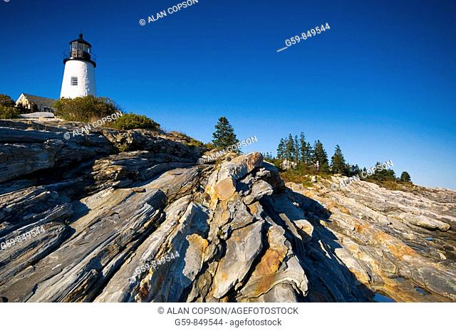 USA, Maine, Pemaquid Point Lighthouse