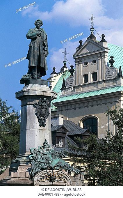 Adam Mickiewicz monument (Zaosie, 1798-Constantinople, 1855), Polish patriot, poet and essayist, Warsaw Old Town (UNESCO World Heritage List, 1980), Poland