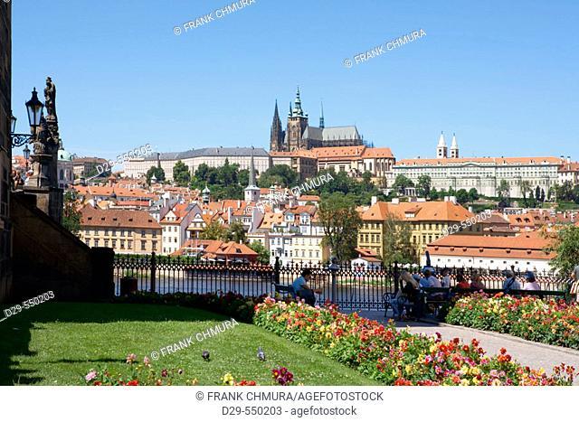 Lesser town. Mala Strana. Hradcany castle. Prague. Czech Republic