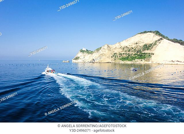Cape Miseno with Fishing Boat