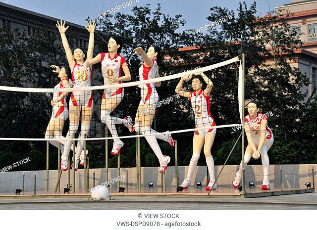 Models Of Volleyball Players,Beijing