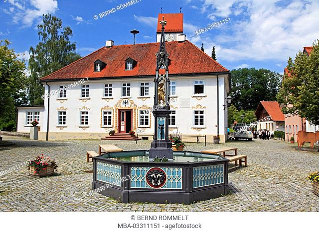 Germany, Baden-Wurttemberg, Allgäu, Unterallgäu, Eglofs, marketplace, village square