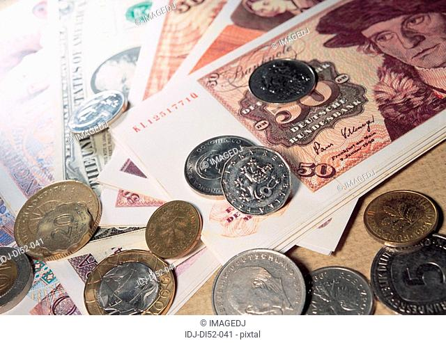 Bills and coins