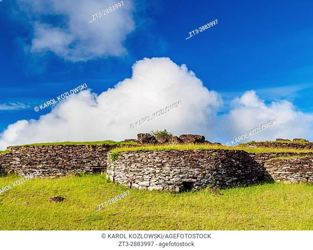 Orongo Village, Rapa Nui National Park, Easter Island, Chile
