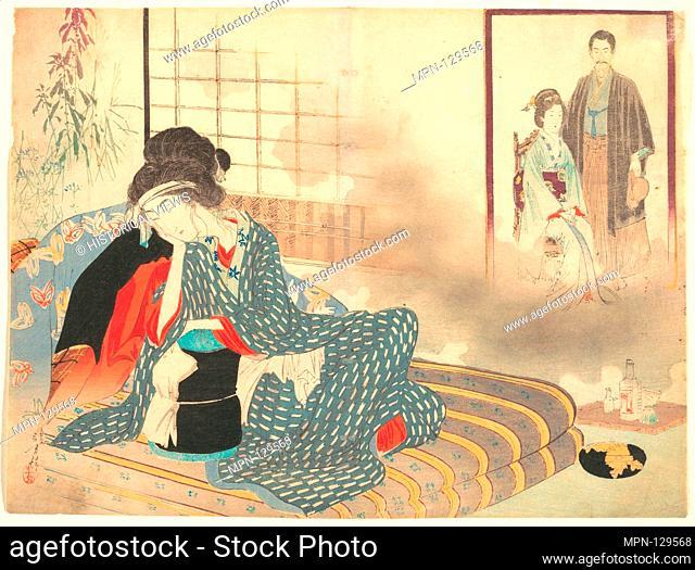 Surgical Ward' (Gekashitsu) from Bugei Kurabu (Literary Club). Artist: Mizuno Toshikata (Japanese, 1866-1908); Period: Meiji period (1868-1912); Date: ca