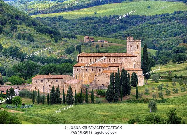 Abbazia di Sant'Antimo, Castelnuovo dell'abate, Montalcino, Tuscany, Italy