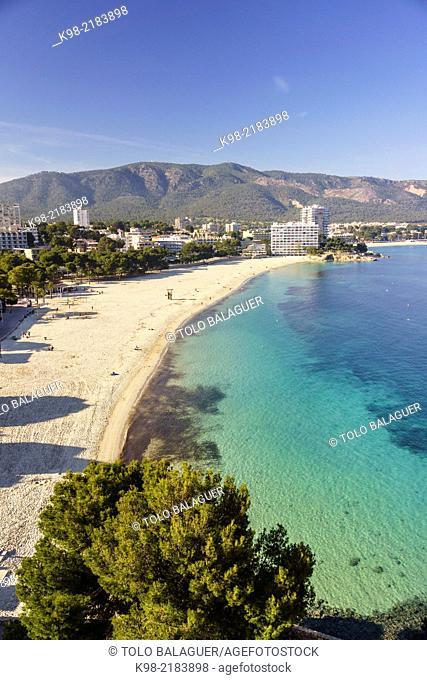 Es Carregador beach, Palma Nova, Calvia,Majorca, Balearic Islands, Spain