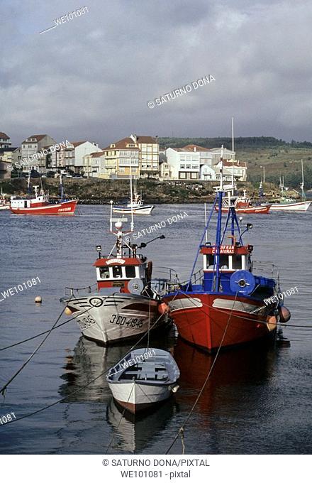 trawlers in Camarinas - Costa da Morte - Galicia - Spain