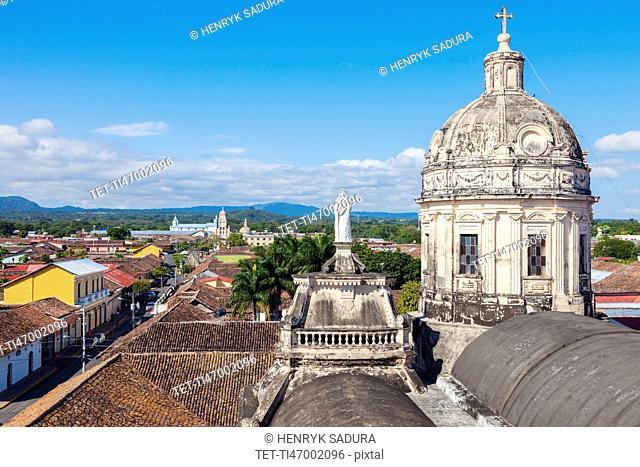 Nicaragua, Granada, Dome of La Merced Church