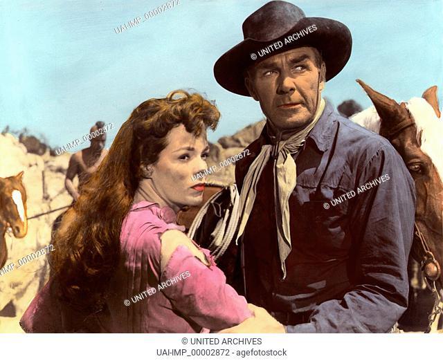 Einer gibt nicht auf, (COMANCHE STATION) USA 1959, Regie: Budd Boetticher, NANCY GATES + RANDOLPH SCOTT