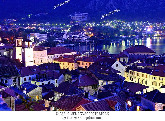 View of rooves of Kotor, Montenegro