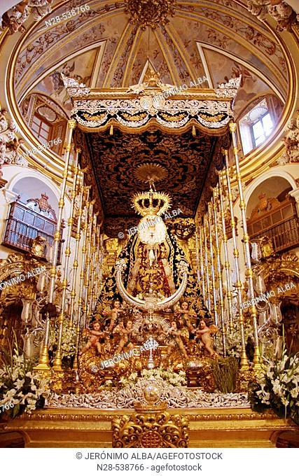 'Virgen del Socorro'. Santa Maria de Jesus church, Antequera. Malaga, Andalucia, Spain