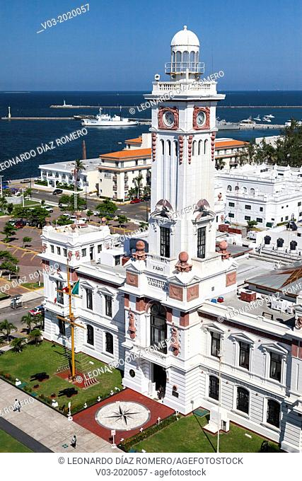 The antique lighthouse of Veracruz City, a important seaport in Mexico