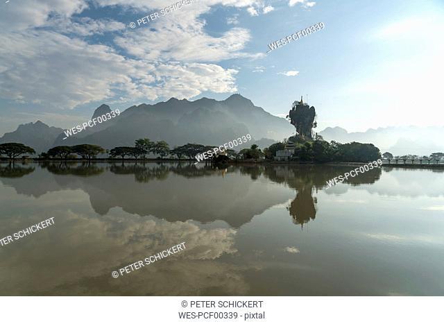 Myanmar, Hpa-an, Kyauk Kalat Pagoda