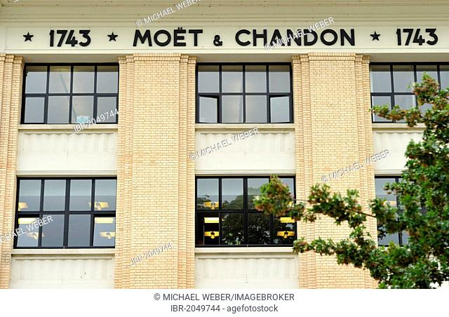 Moët & Chandon winery, headquarters, luxury goods group LVMH, Louis Vuitton Moët Hennessy, Épernay, Champagne, Marne, France, Europe, PublicGround