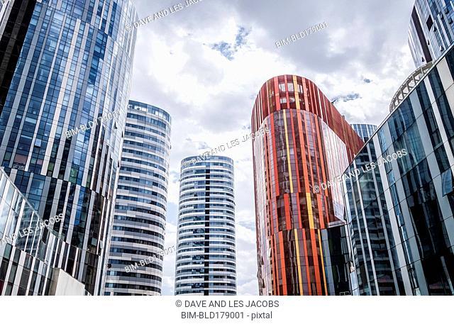 Highrise buildings in Beijing cityscape, Beijing Municipality, China