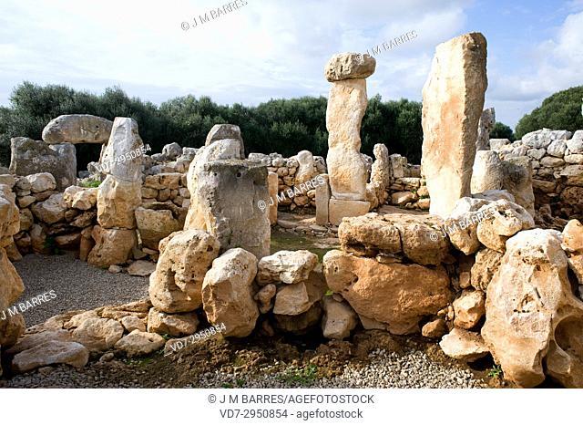 Torre d'en Galmes or Gaumes, talaiotic age. Alaior, Minorca Biosphere Reserve, Balearic Islands, Spain