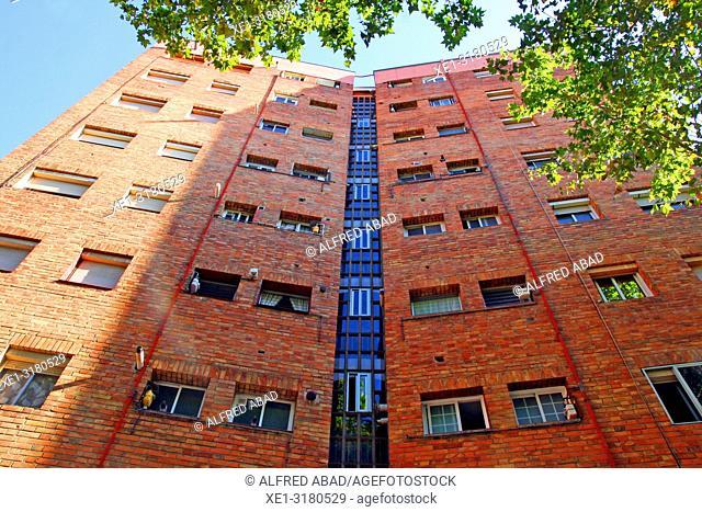 Residential building, Zona Franca, Barcelona, Catalonia, Spain