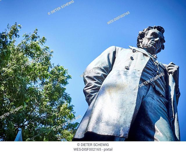USA, Illinois, Chicago, Lincoln Park, Statue of Abraham Lincoln