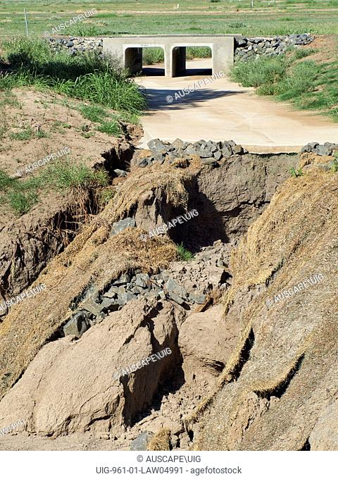 Eroded stormwater drain