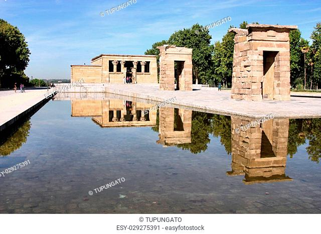 Temple of Debod - Egyptian temple rebuilt in Madrid, Spain. Ancient architecture