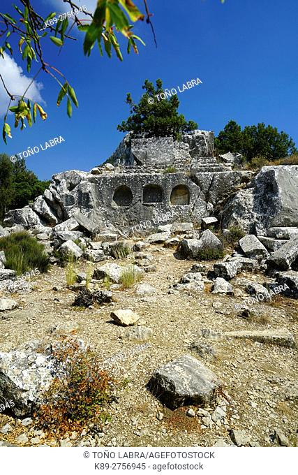 Termessos. The unexcavated Pisidian city. Ancient Greece. Asia Minor. Turkey