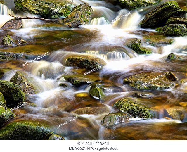 Ireland, Wicklow, brook in the Wicklow Mountains, brown moor water