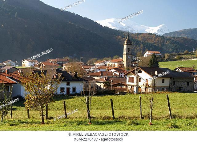 Ubide village. Arratia-Nervion county. Biscay, Basque Country, Spain, Europe