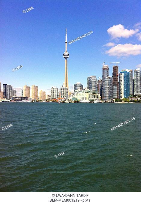 Toronto city skyline on water, Ontario, Canada
