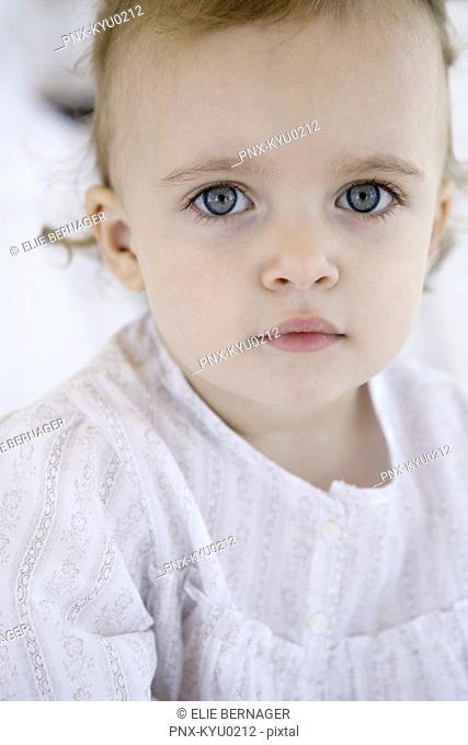 Portrait of a little girl posing for the camera