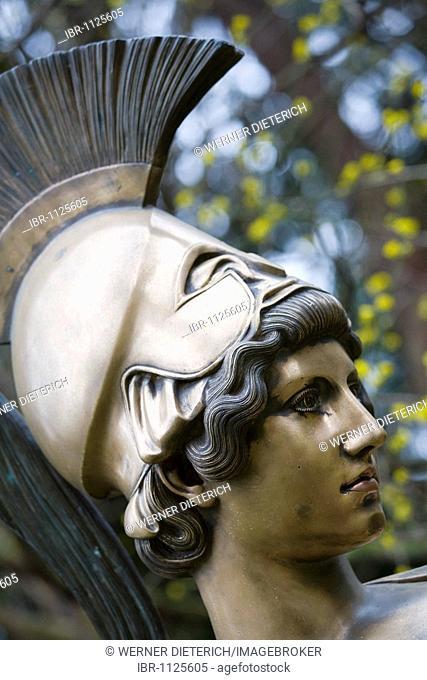 Statue of the goddess Athena in a park, Liebighaus, Museum alter Plastik, sculpture museum, Frankfurt, Hesse, Germany