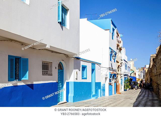Colourful Streets In The Medina, Asilah, Morocco