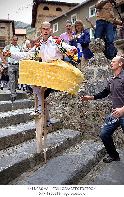 'Danza de los Zancos' folk dance, Anguiano, La Rioja, Spain