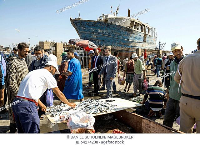 Fish market at the harbour, Essaouira, Morocco
