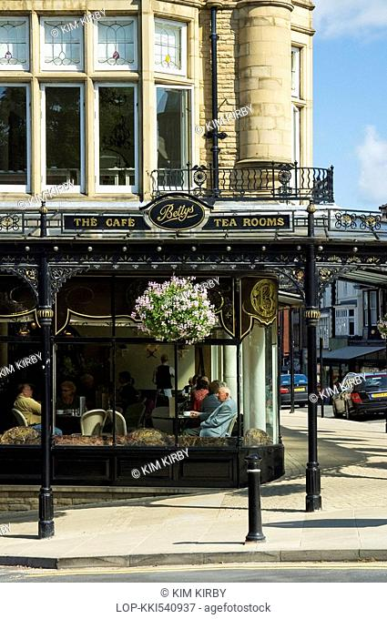 England, North Yorkshire, Harrogate, Bettys tea rooms and cafe on the corner of Parliament Street and Montpellier Parade in Harrogate