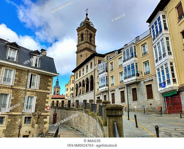 San Vicente Tower, Vitoria Gasteiz, Alava province, Basque Country, Spain