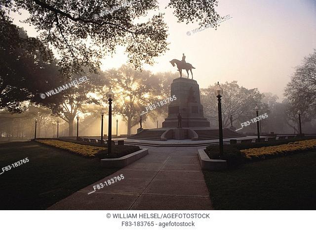Civil War monument with General Sherman statue. Washington. D.C. USA