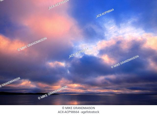 Clouds at sunrise on the Atlantic Ocean Channel-Port aux Basques Newfoundland & Labrador Canada