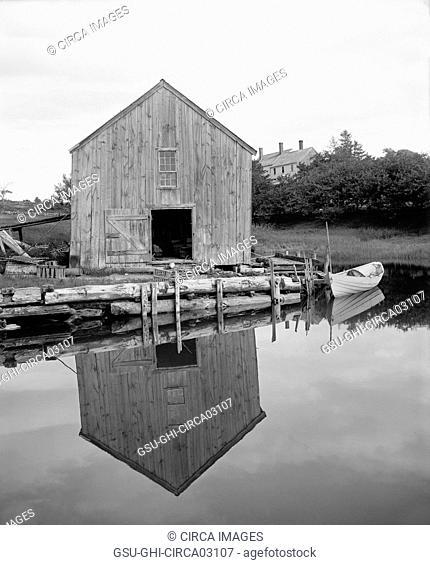 Old Fish House, Kennebunkport, Maine, USA, Detroit Publishing Company, 1905