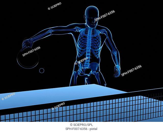 Table tennis player, computer artwork