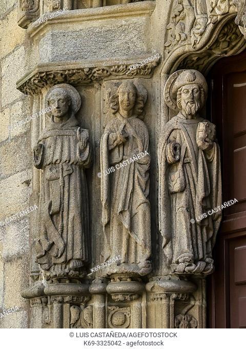 Detail of the Portico. Colegio de San Jeronimo. Santiago de Compostela. Spain